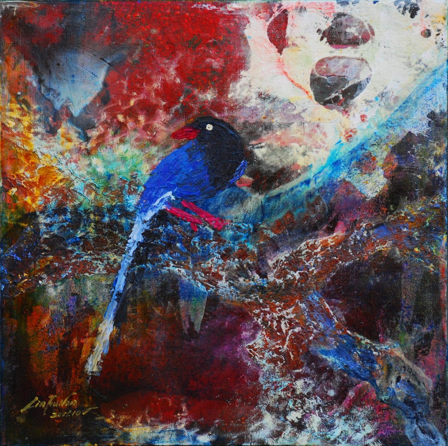 油畫-國雀