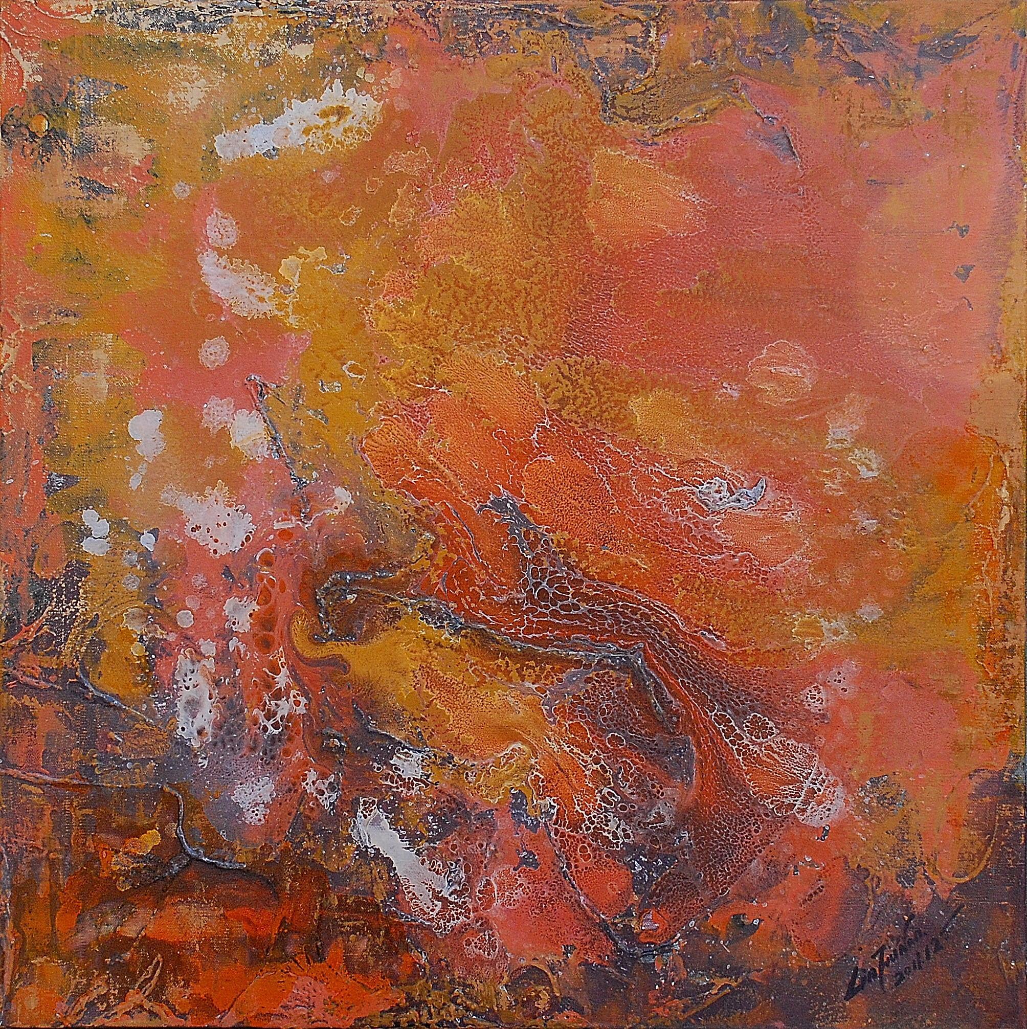 油畫-黃金年華(一)