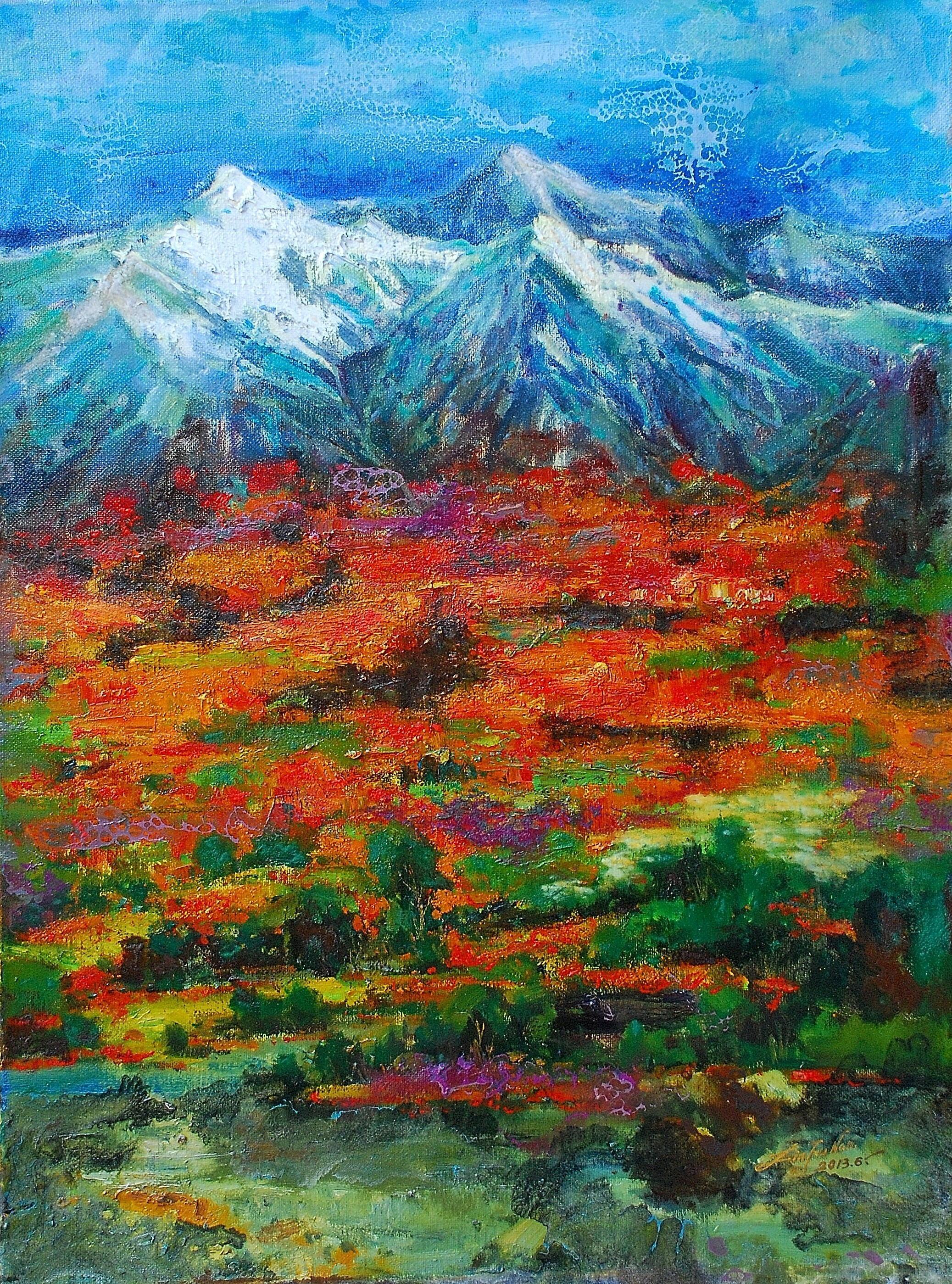 油畫-瑞峰綺麗